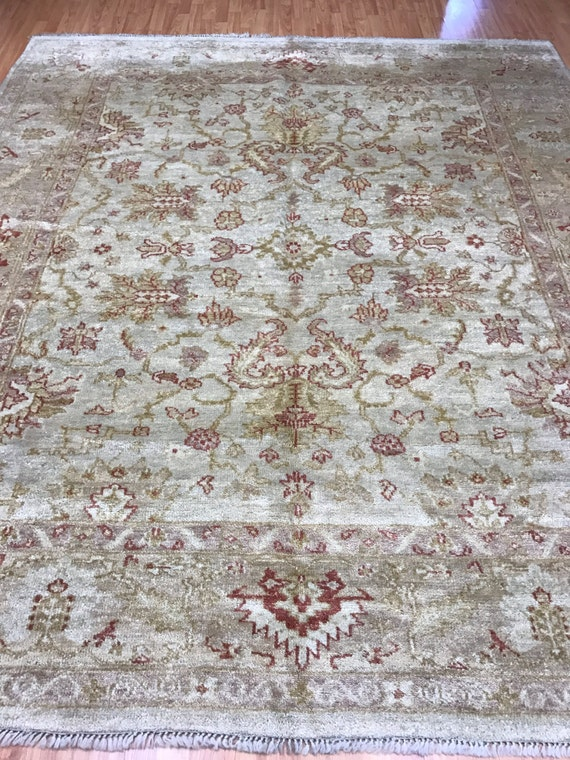 "8' x 9'3"" Turkish Oushak Oriental Rug - Vegetable Dye - Hand Made - 100% Wool"