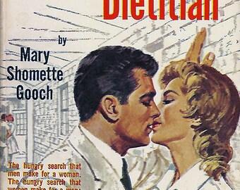 pulp art print Amorous Dietitian — vintage book cover repro