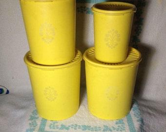 Vintage Tupperware Canister set - Harvest Gold
