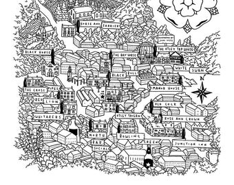 Welcome to Otley - Pub Map Art Print