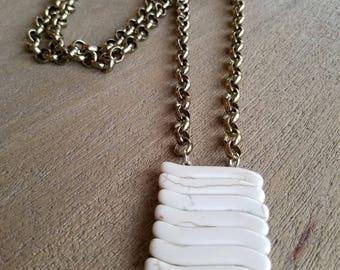 Ivory Stacked Bone Necklace