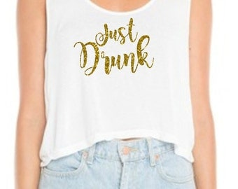 Bachelorette Party Just Drunk Iron on-Just Drunk Iron on-Just Drunk Bachelorette Party Shirts-Cute Bachelorette party shirts-DIY Iron on