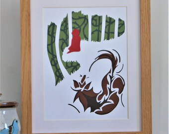 Little Red Riding Hood (Summer) - Handmade Papercut Picture