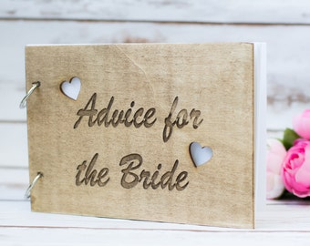 Advice for the Bride Book Advice book Bridal Shower Book Bride to be Rustic Guest Book Guestbook Advice for the future Mrs Wedding book
