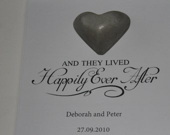 Concrete Wedding 3D Frame Quote PERSONALISED