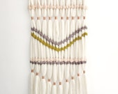 Wool Roving and Copper Woven Wall Hanging