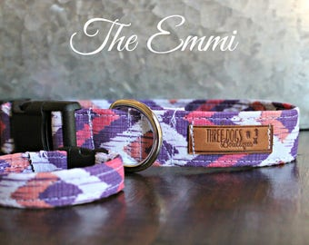 """Dog Collar with optional bff bracelet """"The Emmi"""" FREE SHIPPING 