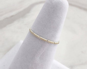 Solid Sterling Silver Notched Skinny Band Ring, Minimalist ring, Dainty ring, stackable ring, thin silver ring, stacking ring, Silver Rings