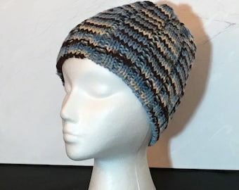 Space-dyed Ribbed Beanie Hat
