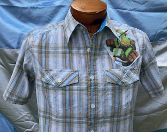 Teenage Mutant Ninja Turtles Shirt- Ninja Turtles Shirt- Teenage Mutant Ninja Turtles Gift- Eco- Vintage 2012 Ninja Turtles Fabric- Size S