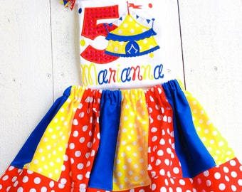 Circus Carnival Birthday shirt Outfit-Personalized