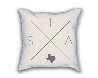 San Antonio Home Pillow - Texas Pillow, Texas Home Decor, San Antonio Home Decor, Texas Home Pillow, Texas Throw Pillow