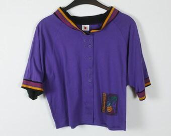 Vintage t-shirt, purple, 90s clothing, oversized