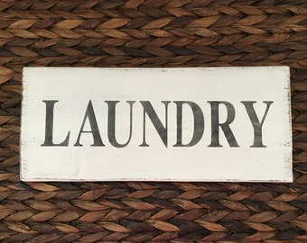 READY TO SHIP! Laundry Sign, Wooden laundry sign, rustic wall decor, farmhouse decor, wood signs