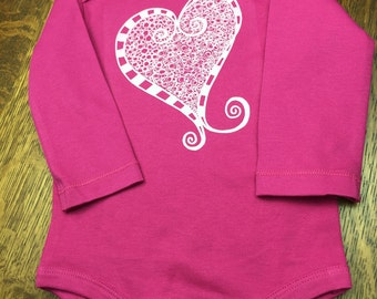 Valentines Day, Baby Gift, Baby Valentine, Newborn Girl, Baby Girl Outfit, Baby Girl Gift, Organic Baby Clothes, Eco Friendly Baby, Drury