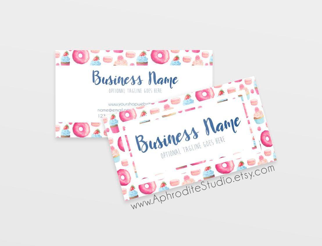 Bakery business cards candy business cards printable business bakery business cards candy business cards printable business cards sweets business cards custom colourmoves