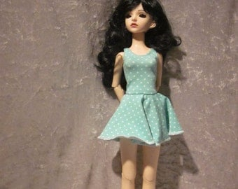 Jersey, - summer, - dress with underpants for BJD doll in MSD, 1/4 size