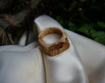 Wood ring. Handmade ring.  Natural Jewelry. Minimalist Wood Ring. Karelian birch ring.