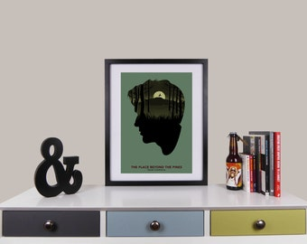 The Place Beyond The Pines Print, Minimalist Movie Poster