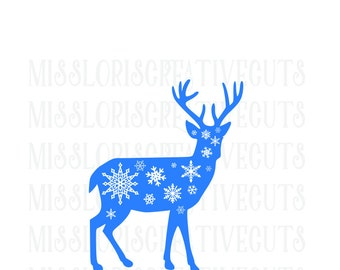 Buck snowflakes SVG Cut file christmas  cut filescrapbook vinyl decal wood sign cricut cameo Commercial use
