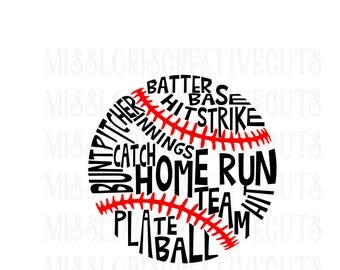 Baseball subway art  SVG Cut file  Cricut explore file Baseball  t-shirt designscrapbook vinyl decal wood sign t shirt cricut cameo