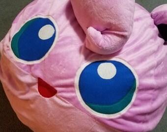pink puff bean bag chair