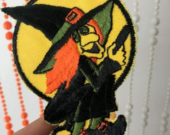 Vintage Witch Halloween Patch