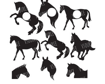 Horse SVG - Horse Head SVG - Horse Silhouette - Horse Clipart - Horse Monogram SVG - Farm Animals Svg - Farm Animal