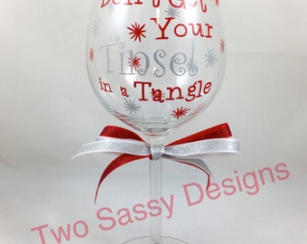Christmas Wine Glass, Holiday Wine Glass, Christmas Wine Glass, Holiday Wine Glass, Christmas Gift, Holiday Gift, Christmas Party