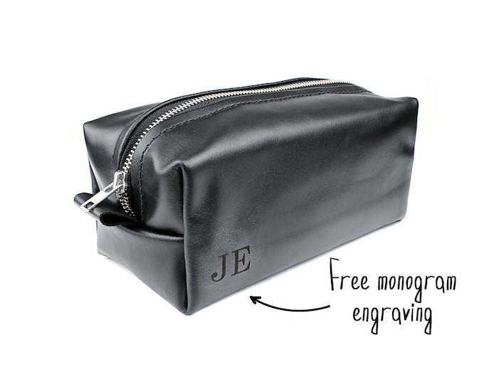 Gift for him - Dopp kit - Black toiletry bag - Father s day gift - Birthday bc66617211