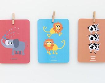 "Decorative Chinese Mandarin Numbers 5""x7"" Flashcards"