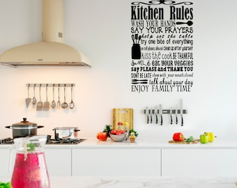 Kitchen Rules Vinyl Wall Decal - Large