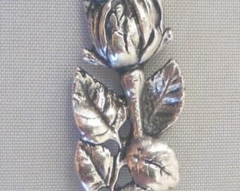 Wonderful cream spoon Hildesheim rose Widmann 800 silver