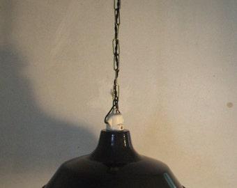 Industrial suspension, black enameled Bowl
