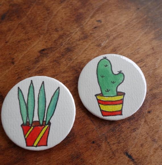 Buttonset Kaktus 2 Stück