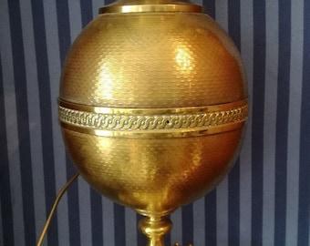 Antique Bronze Lamp French Empire Napoleon Egg Lamp 1850c
