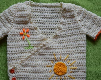 Crocheted jacket: size 9/12 months