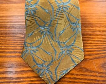 Vintage Giorgio Armani Cravatte Silk Floral Tie