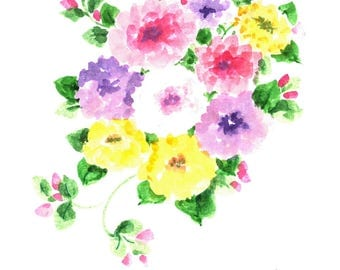 Original floral watercolored greeting card. Can be personaized for anyone or any occasion.