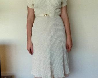 1950s Kimberly orlon knit sweater dress