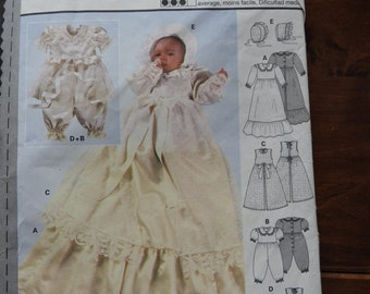 Burda 3039 Baby's Christening Outfits Sewing Pattern