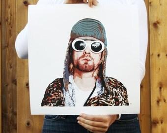 Kurt Cobain // Print, Giclée Print, Home Decor, Nirvana