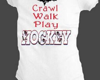 hockey bodysuit, upper michigan hockey shirt, baby yooper hockey, play hockey shirt, baby hockey gifts, hockey gifts, UP hockey gifts,