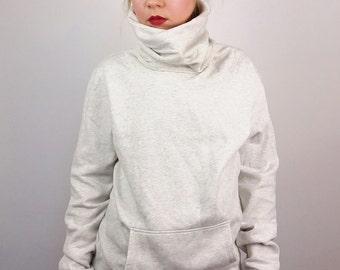 Vintage Very Long Tube Neck Sweatshirt Jumper/ Size M