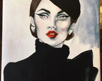 Limited Edition Fine Art Print Inspired by 1950's Fashion