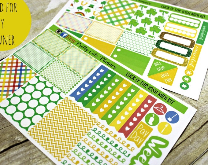Happy Planner Stickers - St. Patricks Day Stickers - Weekly Planner - Erin Condren Life Planner -  Functional stickers - Planner stickers