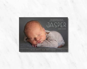 Baby Announcement or Thank You Card with Photo