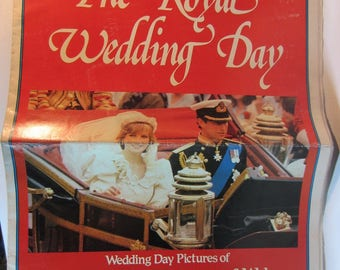 Vintage 1981 Royal Wedding Day Souvenir Pictures Prince Charles & Lady Diana