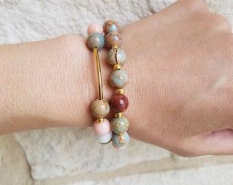 Handmade Beaded Bracelet Short Stack