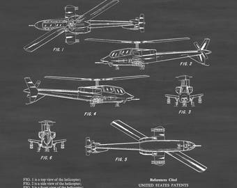 Seibel Military Helicopter Patent - Helicopter Blueprint, Helicopter Poster, Vintage Helicopter, Aviation Art, Pilot Gift, Aircraft Decor